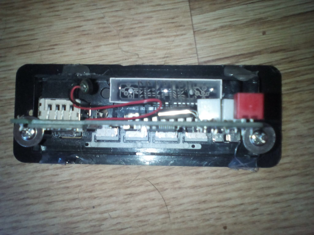 NOW REMOVE THE TWO SCREWS HOLDING THE PCB INTO THE USB MODULE AND TAKE IT OUT, YOU CAN PUT IT BACK IN AFTER YOUVE SOLDERED THE WIRES ON TO IT LATER.