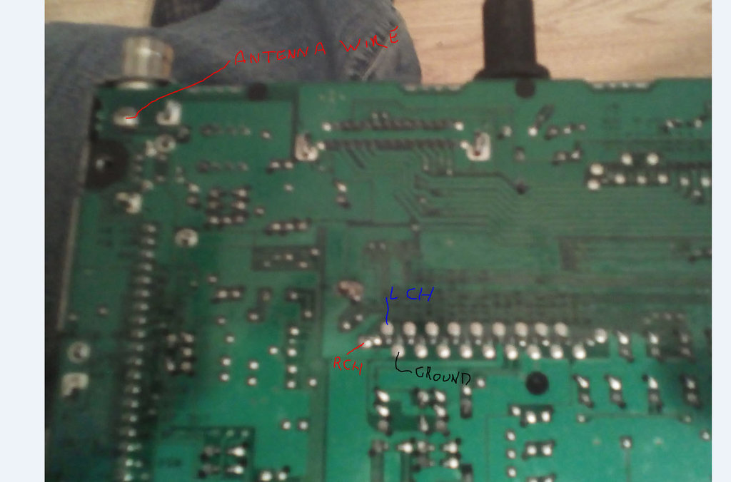 solder the wires here