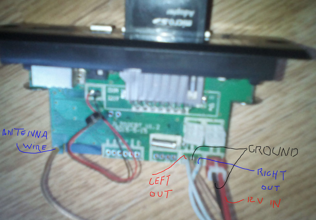 NOW SOLDER THE WIRES TO THE USB MODULE LIKE THIS